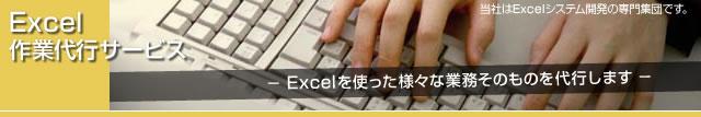Excelを使った高度な作業や、今お使いのExcelシステムのドキュメント作成をいたします。
